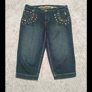 Studded Crop Jeans